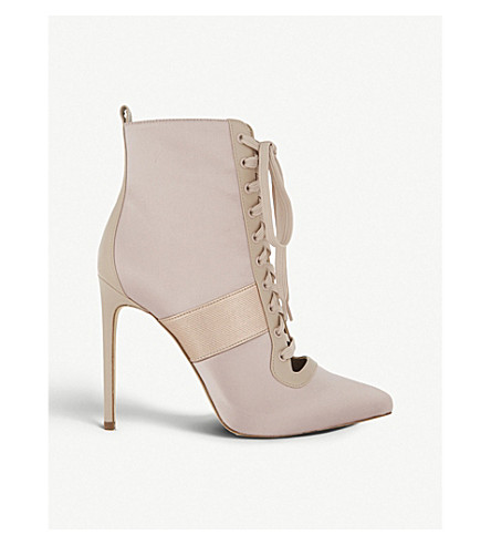 ALDO Ryma satin boots (Light+pink