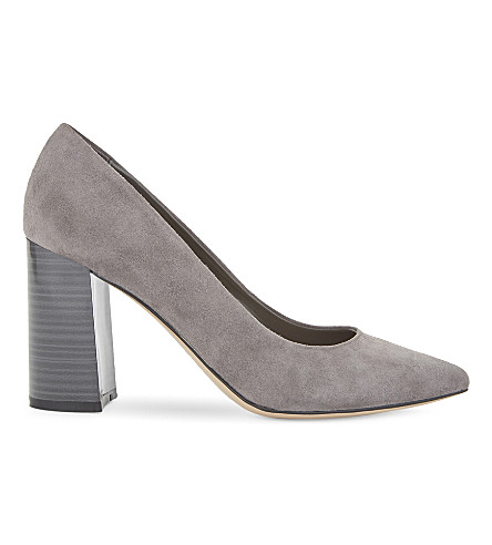ALDO Martya suede heeled courts (Grey