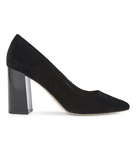 ALDO Martya suede heeled courts (Black+suede