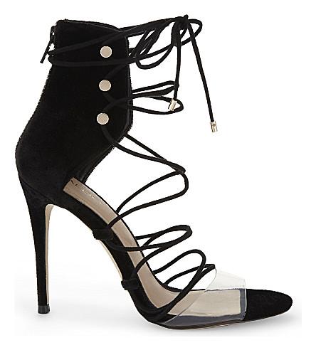 ALDO Somerly velvet strap sandals (Black+velvet