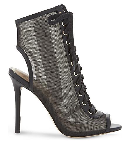 ALDO Corale 网布高跟靴 (黑色