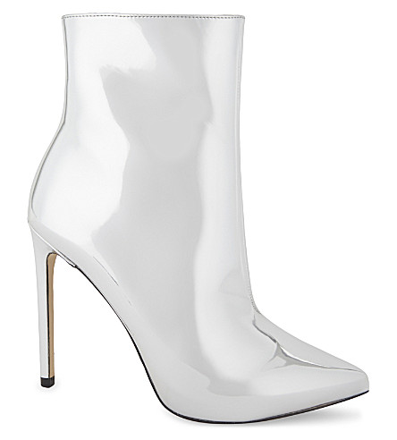 ALDO Loreni metallic high heeled boots (Silver