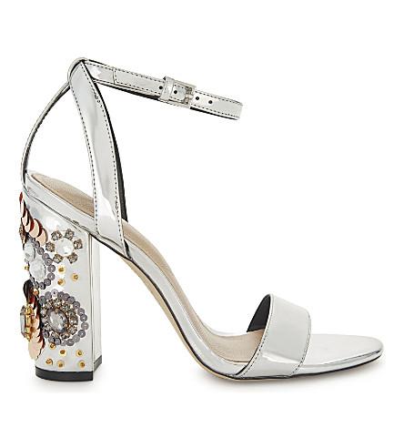 ALDO Luciaa mirrored sandals (Silver