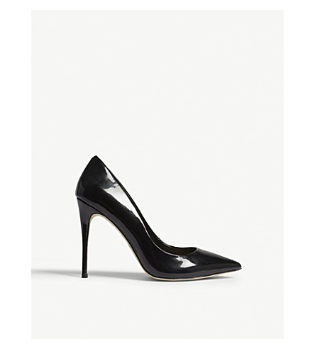 ALDO Stessy patent heeled courts (Black+patent