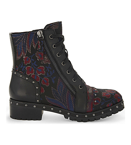 ALDO Cirien embroidered ankle boots (Navy+multi