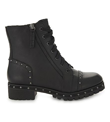 ALDO Cirien leather biker boots (Black+leather