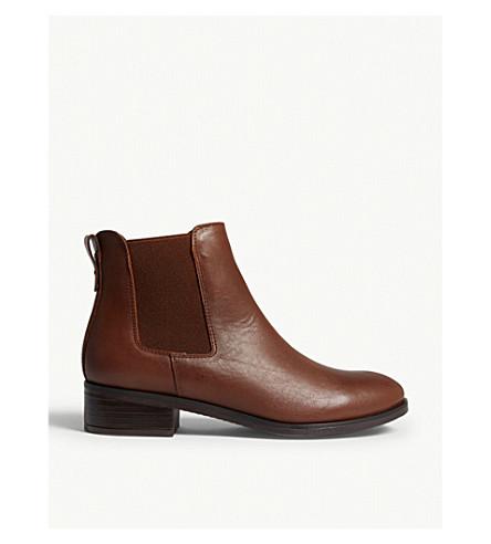 ALDO Meaven leather ankle boots (Cognac