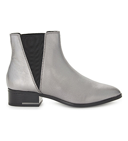 ALDO Gaudet metallic leather ankle boots (Silver