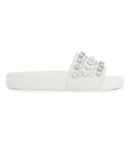 ALDO Sirna embellished sandals (White