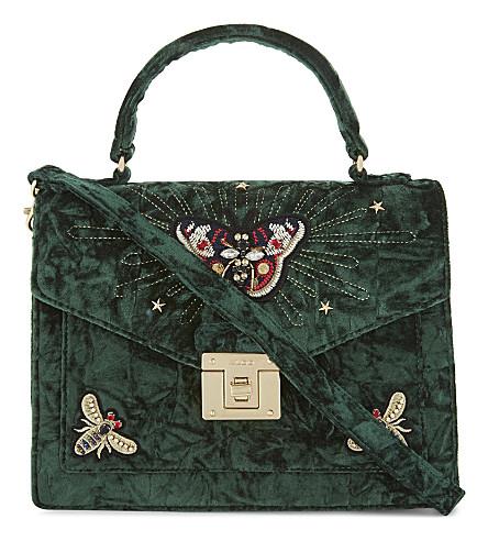 ALDO Durosty velvet shoulder bag (Medium+green