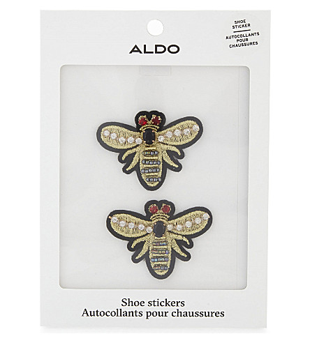 ALDO Cadenas wasp shoe stickers (White+print