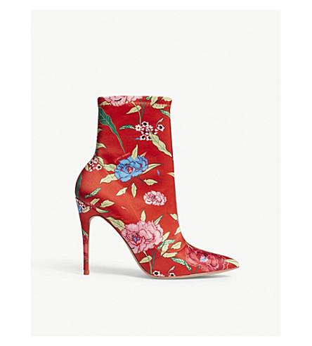 ALDO Cirelle floral-print heeled ankle boots (Orange