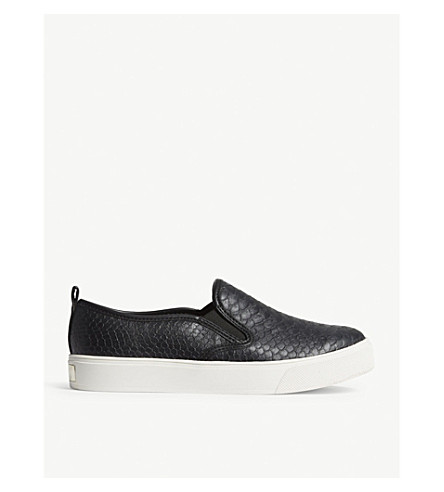 ALDO Jille snakeskin-embossed trainers (Black+synthetic