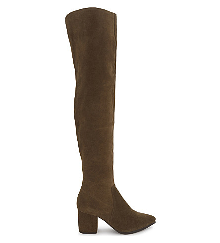 ALDO Iboewet suede over-the-knee boots (Khaki
