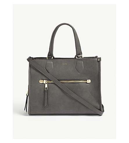 ALDO Dhanbad faux-leather tote (Grey
