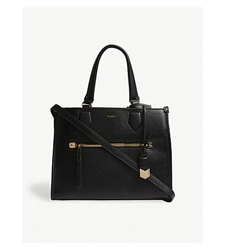 ALDO Dhanbad faux-leather tote (Black