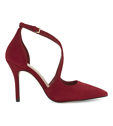 ALDO Loverani strappy suede courts (Red+miscellaneous