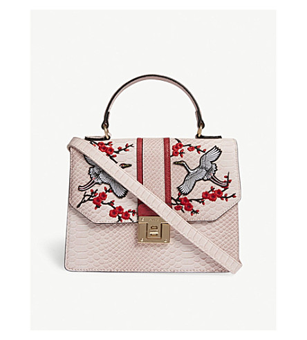 ALDO Theang snakeskin-embossed faux-leather cross-body (Light+pink