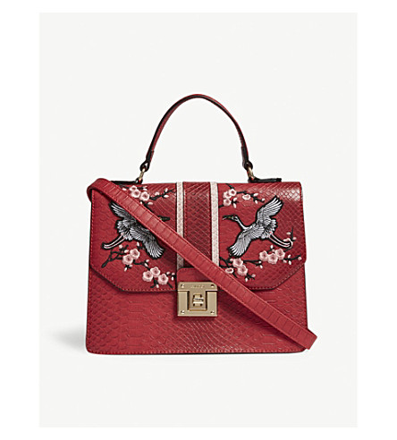 ALDO Theang embroidered cross-body bag (Red