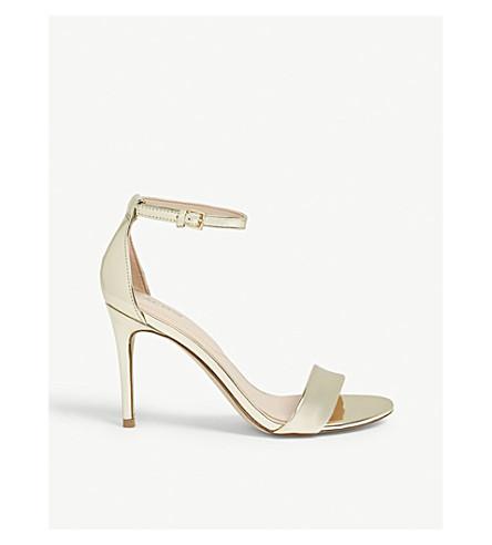 ALDO Cally patent sandals (Gold
