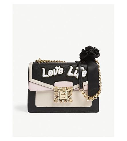 ALDO Saonara embellished shoulder bag (Black+miscellaneous