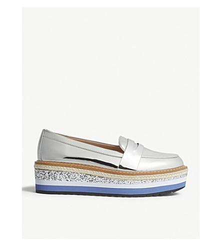 ALDO Ibaresen flatform loafers (Silver