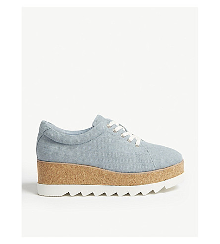 ALDO Ibywia flatform shoes Denim Clearance Online Fake 6M9XKehui