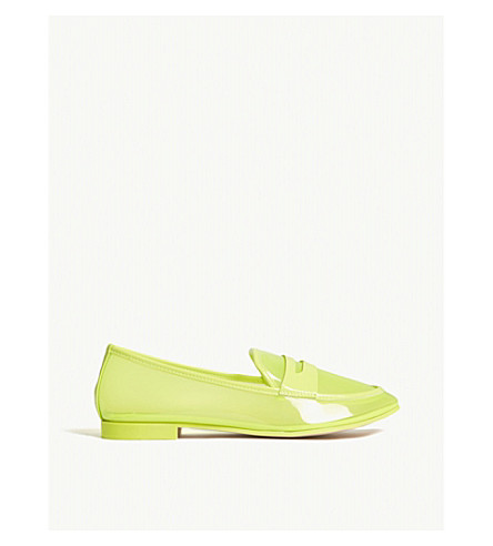 ALDO Heiwit transparent loafers (Light+yellow
