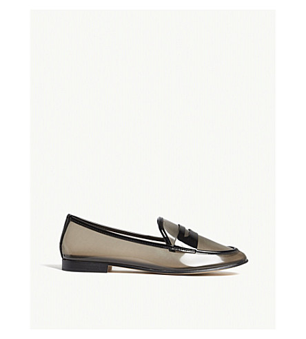 ALDO Heiwit transparent loafers (Black+synthetic