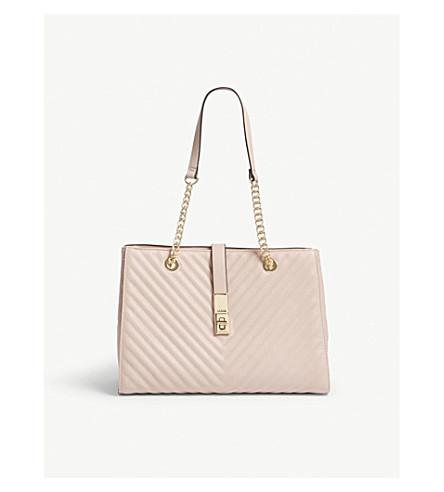 ALDO Oxdrift faux-leather tote (Light+pink