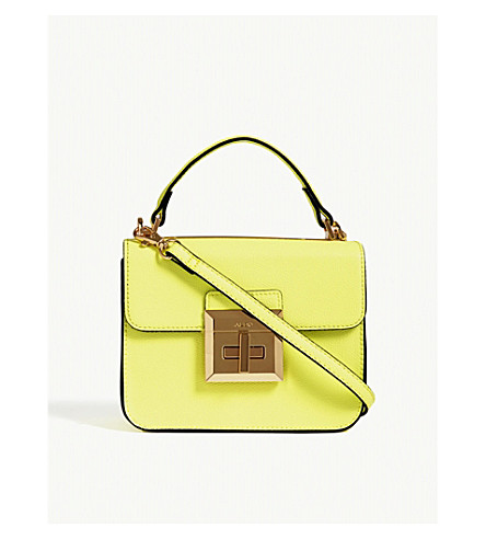 ALDO Chiadda faux-leather shoulder bag (Yellow+miscellaneous