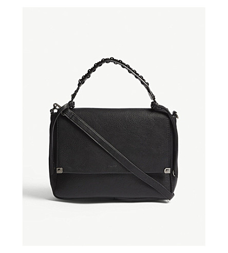 ALDO Bignomia faux-leather satchel (Black+leather