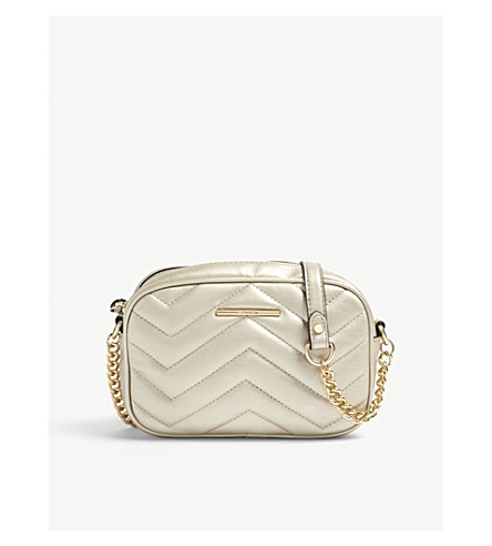 ALDO Kaoedien quilted faux-leather cross-body (Champagne