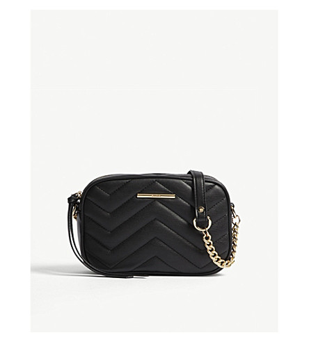 ALDO Kaoedien quilted faux-leather cross-body (Black