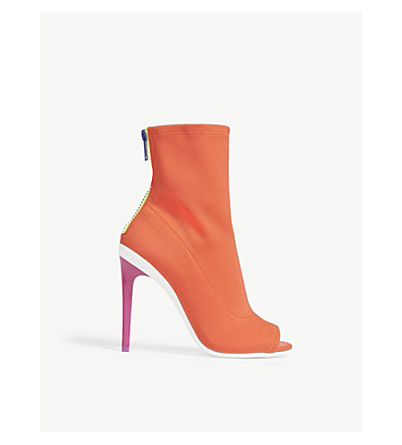 ALDO Ulyssia open-toe heeled ankle boots (Orange