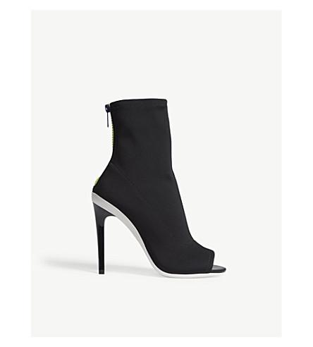ALDO Ulyssia open-toe heeled ankle boots (Black