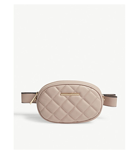 ALDO Pounce quilted belt bag (Light+pink