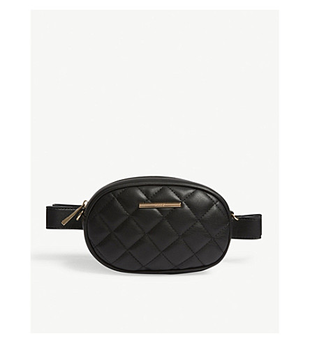 ALDO Pounce quilted belt bag (Black