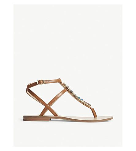 353cdc7fa234e ALDO Whitwell embellished T-bar sandals (Cognac