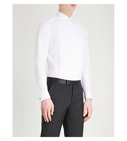 ETON Super-slim fit cotton-poplin shirt (White
