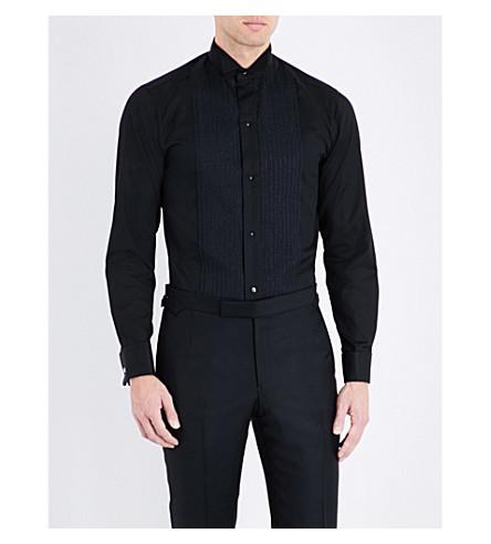 ETON Slim-fit cotton-blend shirt (Black