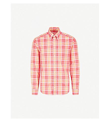 ETON Checked cotton shirt (Pink/red