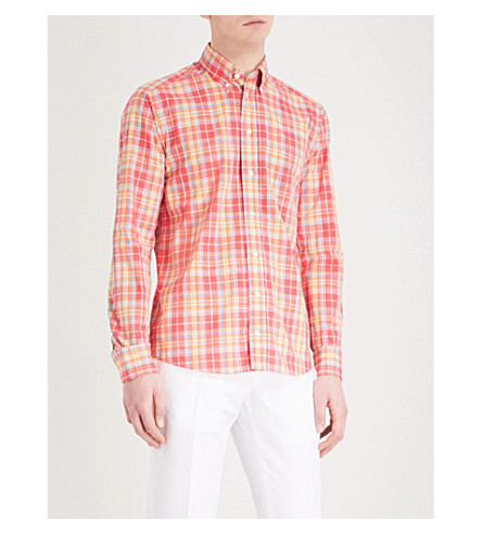 ETON Checked cotton shirt (Pink/red