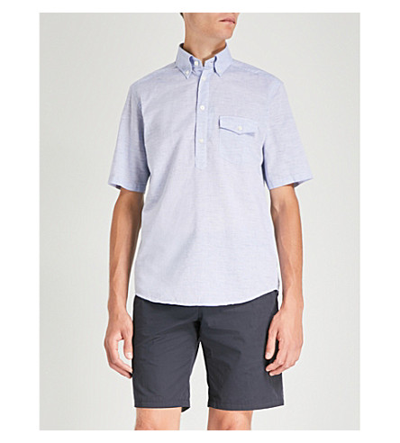 de Azul fit ETON slim Camisa lino qWnpfXwtgx