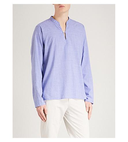 ETON Cross-hatch regular-fit cotton shirt (Blue