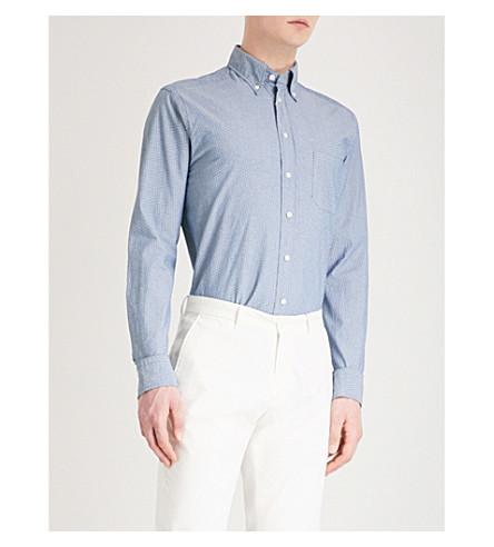 ETON Slim-fit cotton Oxford shirt (Blue