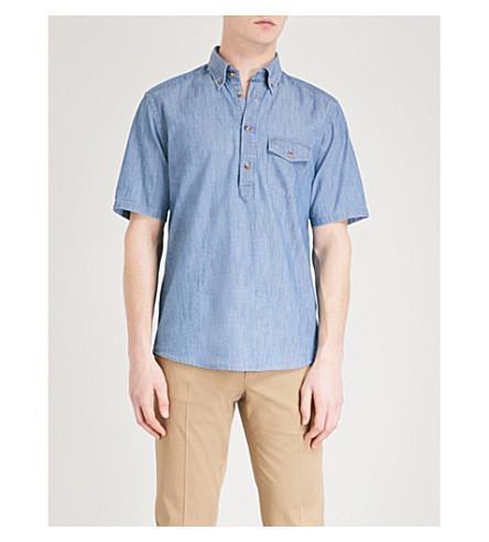 ETON Slim-fit cotton-twill shirt (Blue
