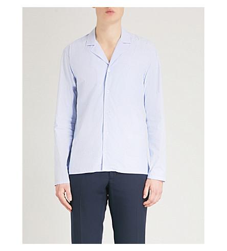 ETON Striped slim-fit cotton shirt (Blue