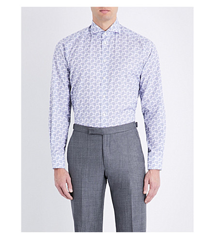 ETON Paisley contemporary-fit cotton shirt (Blue