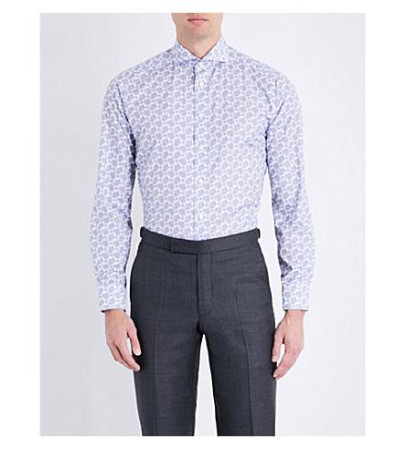 ETON Paisley slim-fit cotton shirt (Blue